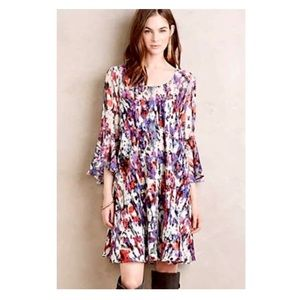Anthropologie Paper Crown Endora Trapeze Dress